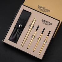 High Quality Luxury Business Metal pen set Golden Clip Ballpoint pen stylo pennen boligrafos kugelschreiber canetas penna 03667