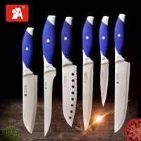 Una marca de cuchillos de cocina Chef rebanando Santuko Paring cuchillo de utilidad 8 6 5 3,5 pulgadas de alta cocina de acero inoxidable de carbono herramienta de cocina