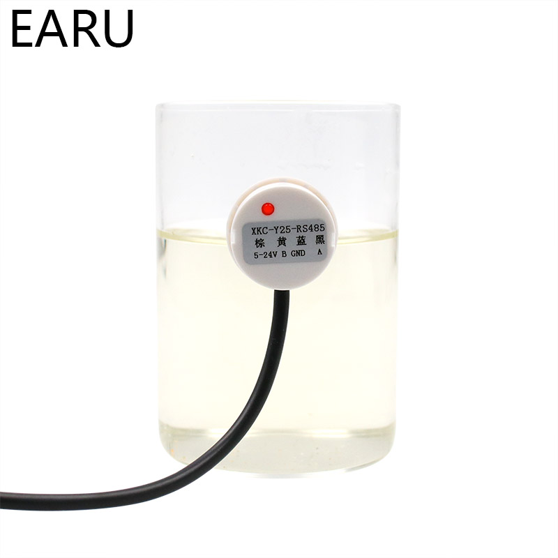 Water Liquid Level Switch Contactless Detector Outer Adhering Type Level Sensor NPN PNP Rs485 Interface Compatible Power Adapter