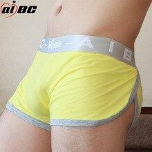 AIBC 3 Pcs/Lot Sexy Mens Boxer Underwear Cotton Low Waist Male  Solid Men Soft Underpants Boxers Shorts Cotton Men