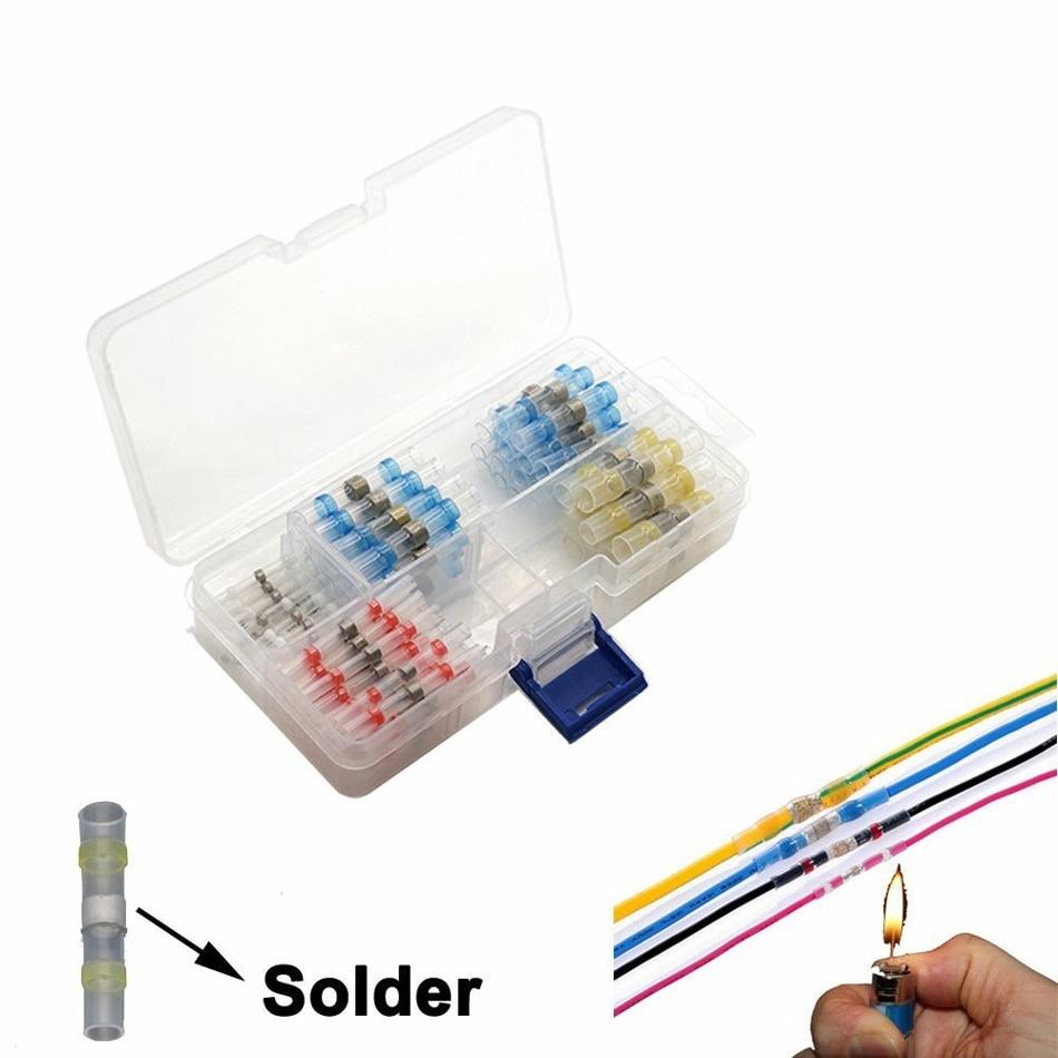 Juego de tubos de manga de soldadura a prueba de agua conectores de Cable de empalme línea a conector de línea