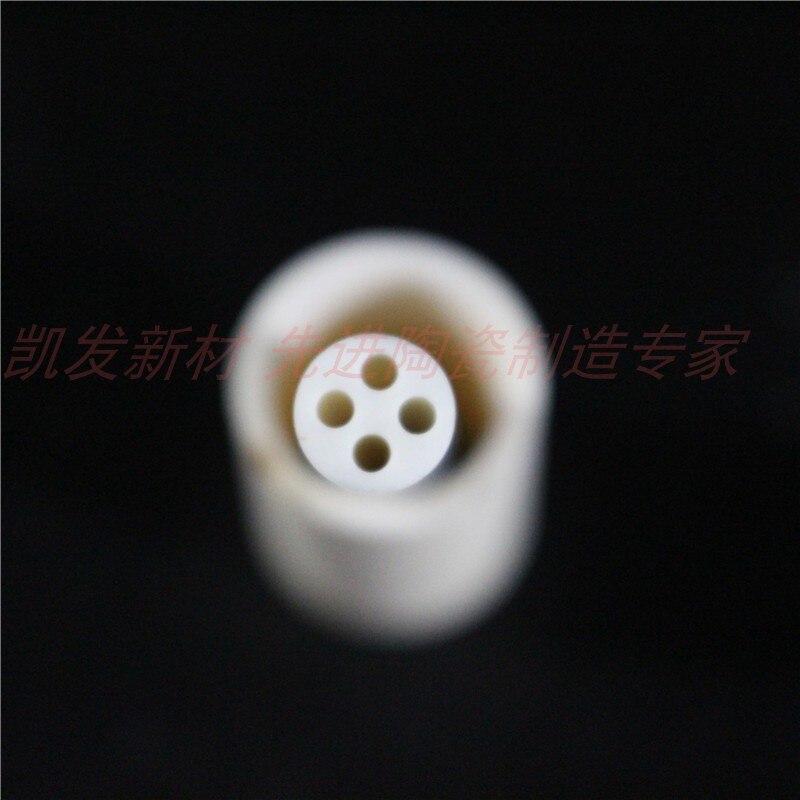 OD*ID=6*1.5mm / 4 Bores High Purity 99.3% Alumina Advanced Ceramic TubeOD*ID=6*1.5mm / 4 Bores High Purity 99.3% Alumina Advanced Ceramic Tube