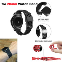 20mm Bracelet Strap For Xiaomi Amazfit Bip Watchband Amazfit GTS Wristband Amazfit GTR 42mm For Samsung Gear S2 S4 Watchstrap