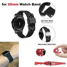 Купить с кэшбэком Silicone Correa Strap 20mm Smart Watch Bracelet Band for Xiaomi Huami Amazfit Bip Lite for Samsung Gear S2 S4 for Huawei Watch 2