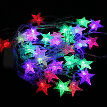 28LED 5m Multi-color Christmas String Lights xmas Party String Fairy star Light 220V EU PLUG holiday lights huge meteor five pointed star led light string 23cm eu plug xmas christmas wedding valentine day fairy decor cf