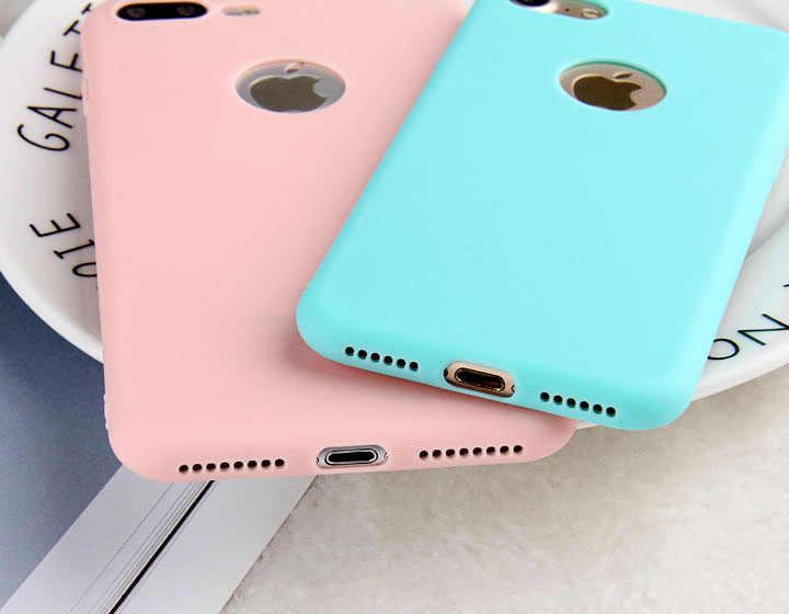 0f5d53ebfee ... THREE-DIAO Caramelo Suave TPU casos de teléfono para iPhone X 5 5S SE 6  ...