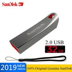 SanDisk Original CRUZER FORCE USB 2.0 32GB dysk Flash SD 16GB pen-drivy 8GB 64gb USB 2.0 U obsługa dysku oficjalna weryfikacja