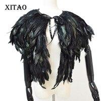 XITAO Autumn Faux Fur Vest for Women Short Paragraph Feather Coat Waistcoat Shawl High Grade Europe Feathers Hot Sale WPA 002