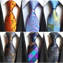 Ricnais Classic Silk Men Tie Plaid Neck Ties