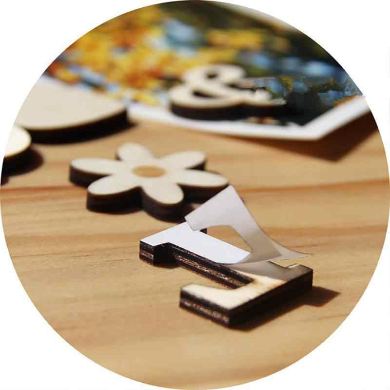 A-Z 0-9 Bằng Gỗ DIY Craft Tiếng Anh Letter Số Mô Hình Tự Dính Trang Trí Nội Thất Phụ Kiện DIY trang trí Dễ Thương thời trang 1 gói
