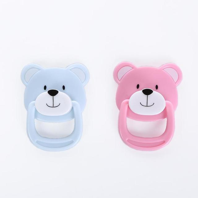 2pcs lot 2016 new arrival bear magnetic baby pacifier for reborn