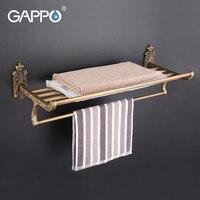 GAPPO 1Set Wall Mounted 60cm Antiquities Towel Bar In Six Racks Towel Holder Hook Restroom Towel