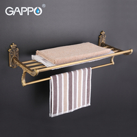 GAPPO 1Set Wall Mounted 60cm Antiquities Towel Bar In Six Racks Towel Holder Hook Restroom Towel