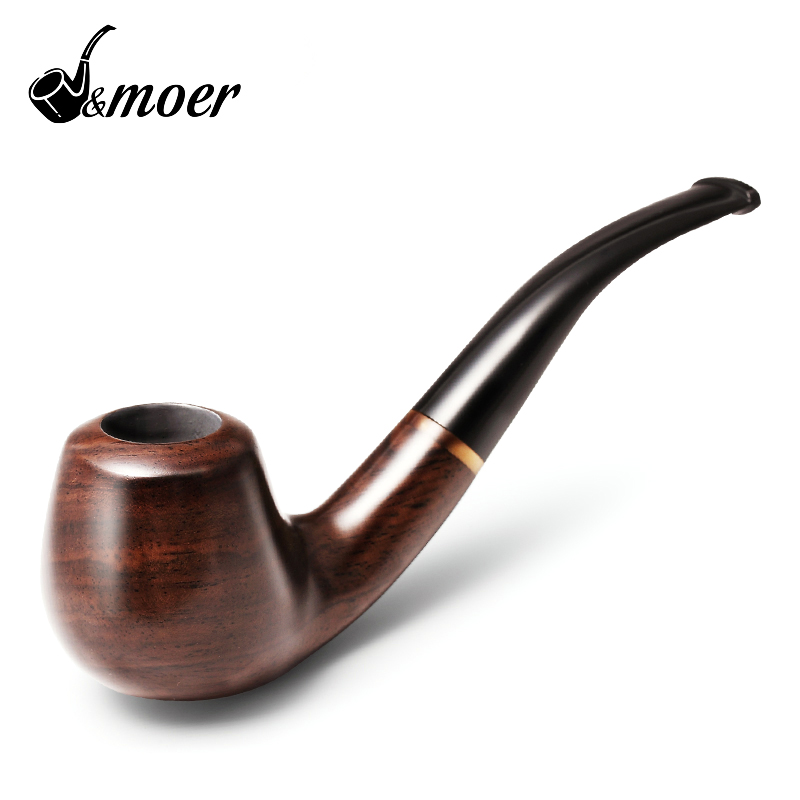 2016 J moer New Ebony pipe curved Tobacco pipe Smoking pipes filter JH661 ebony