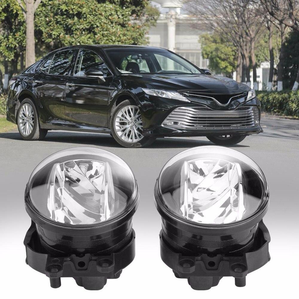 2pcs 12V Round Auto Car Fog Lamp Driving Daytime Running Light Ultra Bright for Toyota for