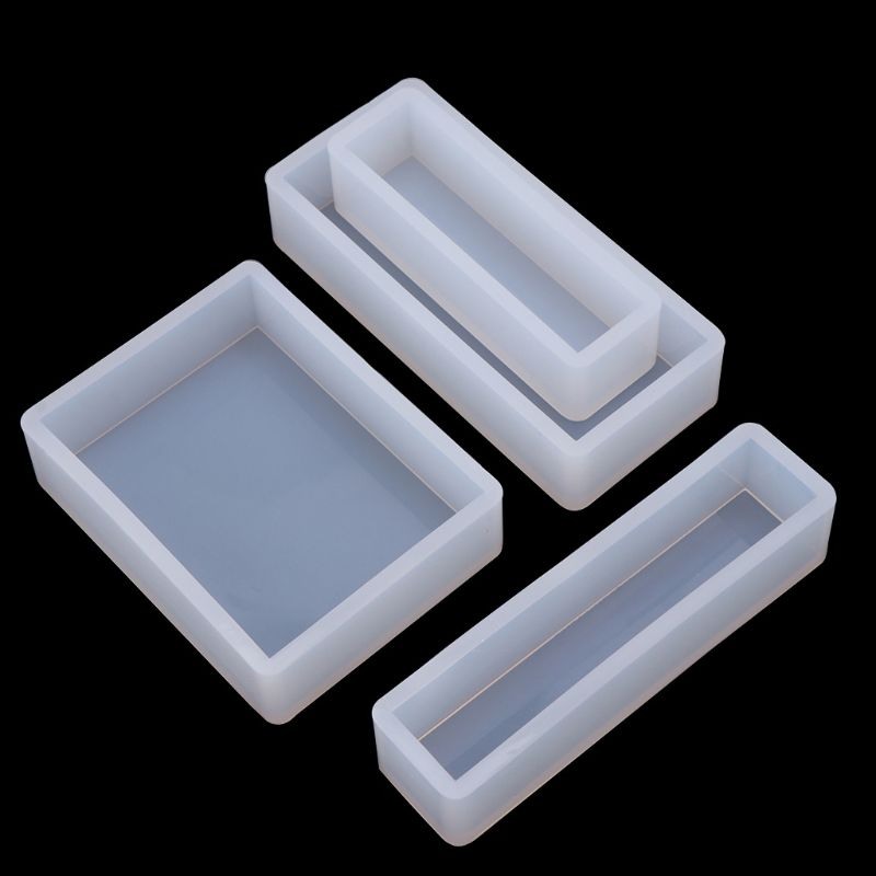 1 Set Geometric Epoxy Mould Set Square Rectangular DIY Handmade Crafts Silicone Mold Decoration Jewelry Making Molds Y4QB in Jewelry Tools Equipments from Jewelry Accessories