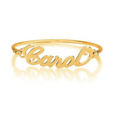 Personalized Name Bracelet kids bangles for Women Bridesmaid Gift Custom Cuff Graduation Sister Rose Gold Bangle