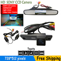 "HD CCD 4.3 ""TFT ЖК-Авто Зеркало Заднего вида Автостоянка монитор + Заднего Вида Автомобиля Камера Заднего Вида для Toyota 4 Runner Land Cruiser прадо"