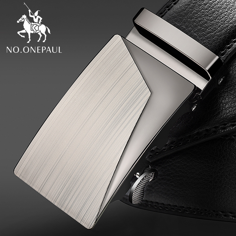NO.ONEPAUL Adjustable Length Automatic Buckle Men Buckle Leather Designer High-quality Fashion Brand Male Business Male Belts