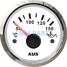 KUS Marine Oil Temp Gauge Boat Engine Outboard Motor Temperature Gauge 50-150 Degree