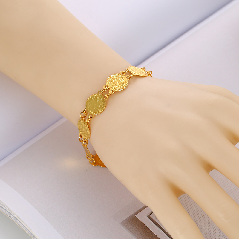 SONYA Gold Color Money Coin Bracelet Islamic Muslim Arab Coins Bracelet For Women Middle Eastern Jewelry African Gifts Bijoux