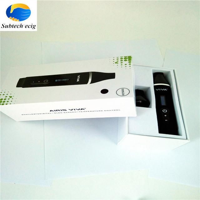 Novos produtos Airistech VIVA Seco vaporizador Mod cigarro eletrônico Starter Kits 2200 mah bateria erva seca vaperizer cozimento Completo
