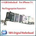 Original desbloqueado mainboard com fichas completas, 64 gb para iphone 5s motherboard sem touch id, frete grátis, bom trabalho