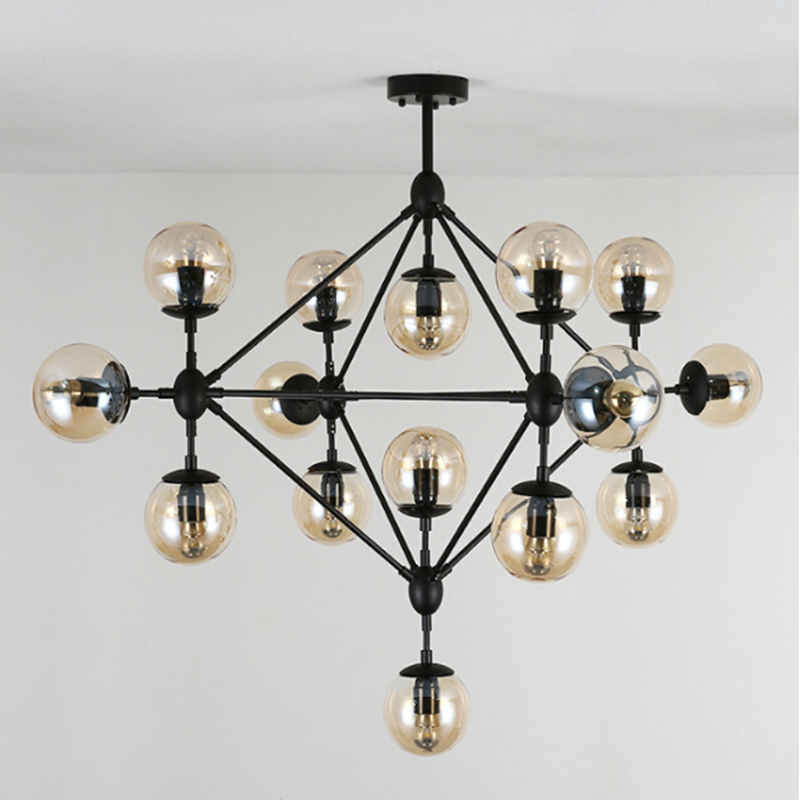 Create magic beans DNA Lustres wrought iron industrial Cafe project lamps Nordic Art Deco glass ball pendant hanging lights nodic magic beans dna lustres pendant light modern wrought iron e27 led home hanglamp industrial cafe art deco project lamps