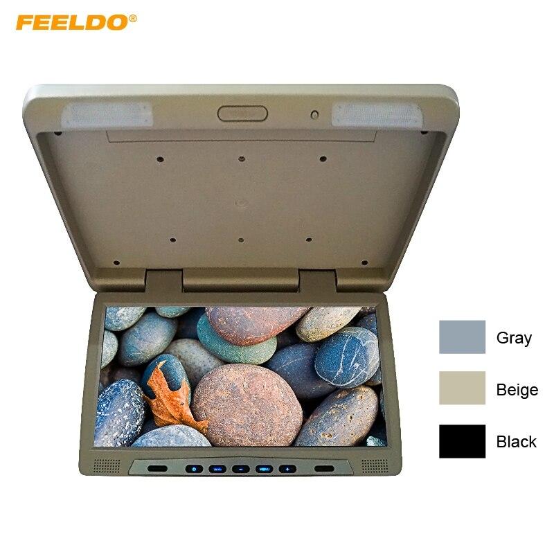 FEELDO 22 pouces Bus voiture rabattable TFT LCD écran plafond toit monté HD moniteur aérien avec émetteur IR