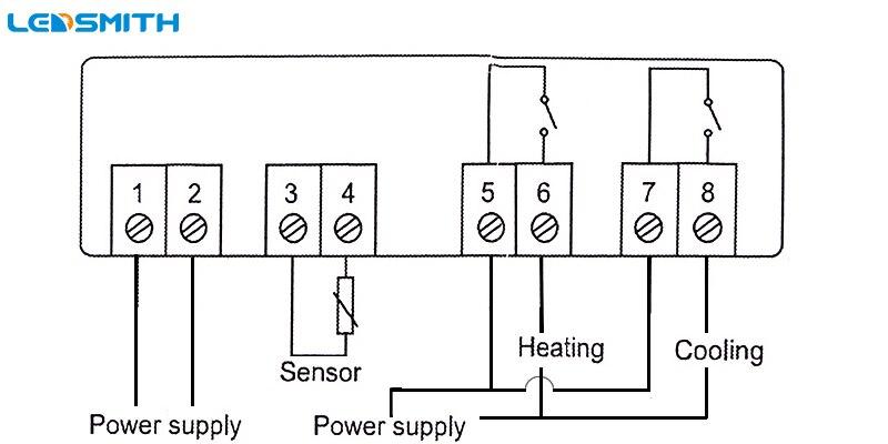 ledsmith led digital temperature controller stc 1000 12v 24v 110 wiring diagram 2 independent power supply for load
