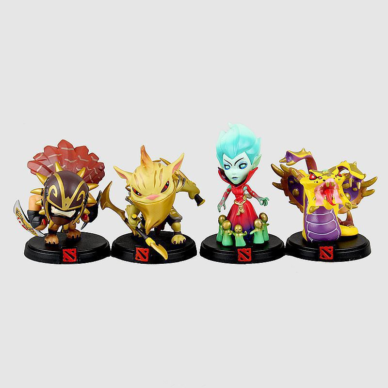ФОТО 4pcs/set Game character Bloodseeker Krobelus Bounty Hunter Toxic Warlock action pvc figure toy tall 10cm in box for collection