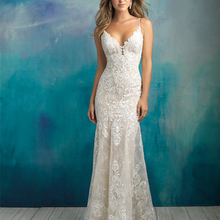 HIRE LNYER 2019 V-neck Backless Mermaid Wedding Dress