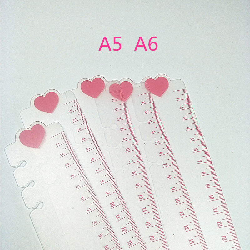 Ruler A5 A6 Love Frosted Planner Agenda Dokibook For 6 Holes Loose Leaf Spiral Notebook Organizer Sketchbook Bullet Accessories
