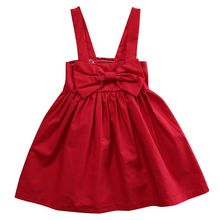 2017 New Baby Dress Infant girl Sister dresses Big Bow Baby Girls Clothes Dress Princess Birthday Dress for Baby Girl