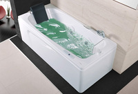 Fiber Glass Acrylic Whirlpool Bathtub Right Apron Hydromassage Tub Nozzles Spary Jets WIth TV Spa RS6151DT