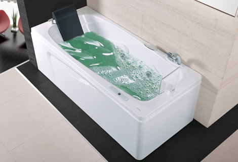fiber glass acrylic whirlpool bathtub right apron tub nozzles spary jets with tv spa rs6151dt - Whirlpool Bathtub