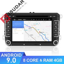 Isudar Multimediale per Auto 2 Din Auto Radio GPS Android 9 Per VW/Volkswagen/POLO/Golf/Skoda /Octavia/Seat/Leon RAM 4 GB Lettore DVD DSP