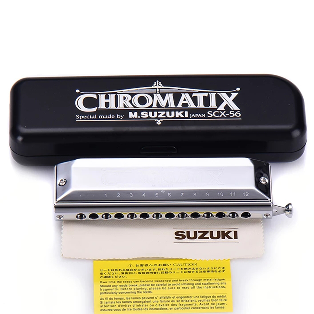 Harmonica Suzuki Chromatix SCX-56 14 Hole  In The Key OF C