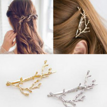 iMucci Gold Silver Tree Hair Clips Girls Alloy Branch Hairpins Fashion Hairgrips Lady Metal Accessories Gift For Women