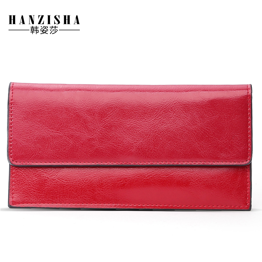 купить 2018 Fashion Genuine Leather Women Wallet Long Purse Multiple Credit Cards Holder Clutch Standard Cowhide Leather Women Purse недорого
