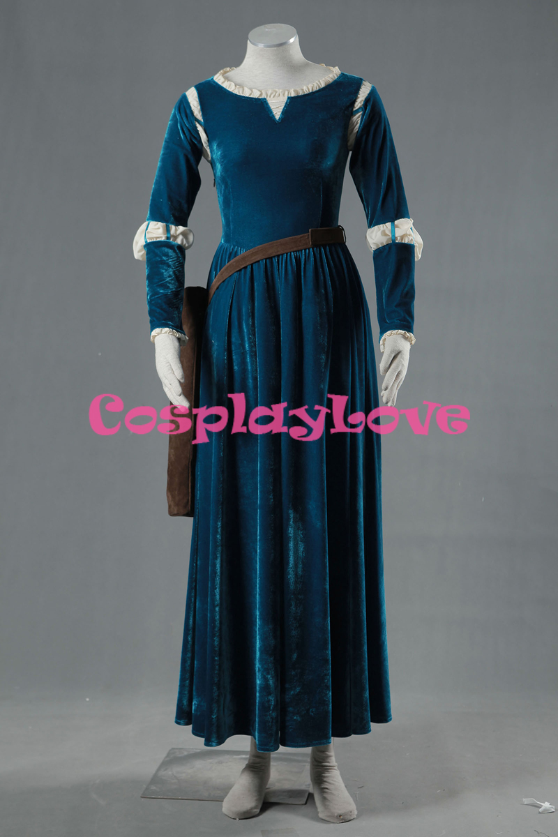 Stock Merida Cosplay Costume Dress From Movie Brave High Quality For Adult Kid Party Halloween Carnival Custom Made sword art online 5 phantom bullet death gun cosplay shoe party boots high quality custom made