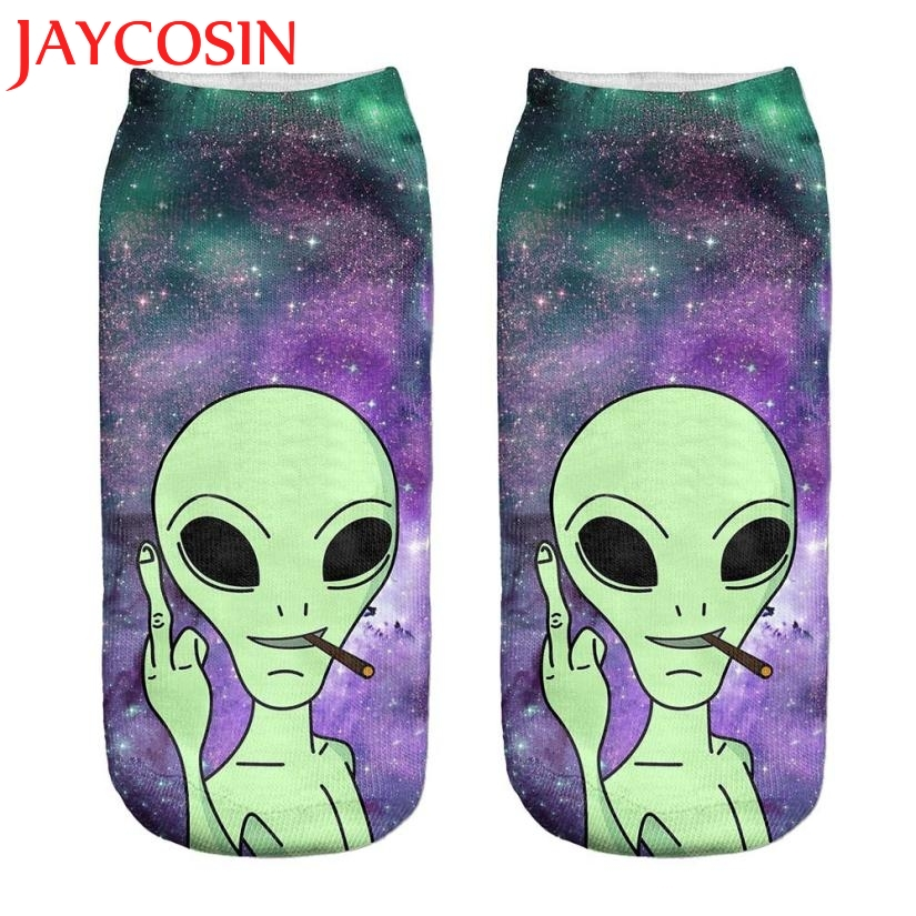 Sock SIF Hot 2018 Fashion 1Pair 3D Digital Print Unisex Couple Breathable Stretchy Socks Levert Dropship59