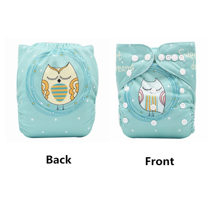 Baby Washable Reusable Cloth Diaper Cover Waterproof Adjustable Pocket Cloth Nappy Baby Cloth Diaper With 1pc Microfiber Insert