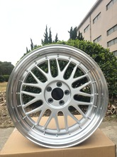 18 SILVER STAGGERED LM STYLE RIMS WHEELS FITS BENZ VW VOLKSWAGEN AUDI W882
