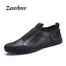 ZENVBNV Men Casual Shoes Autumn winter PU Leather Slip On Loafers Fashion Comfortable Flats Men Shoe Luxury Men Loafers 44 size