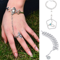 Hot sale! Women's Vintage Style Chain Bangle Slave Finger Ring Hand Harness AIVO