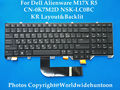 Genuine New KR version black with Backlit Laptop Keyboard for DELL Alienware M17X R5 Keyboard CN-0K7M2D NSK-LC0BC Fully tested