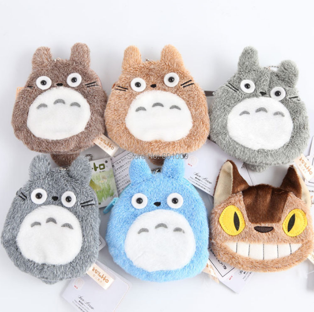 20 Lot 12x13CM My Neighbor TOTORO Coin Bag Keychain Plush Doll Pendant Retail