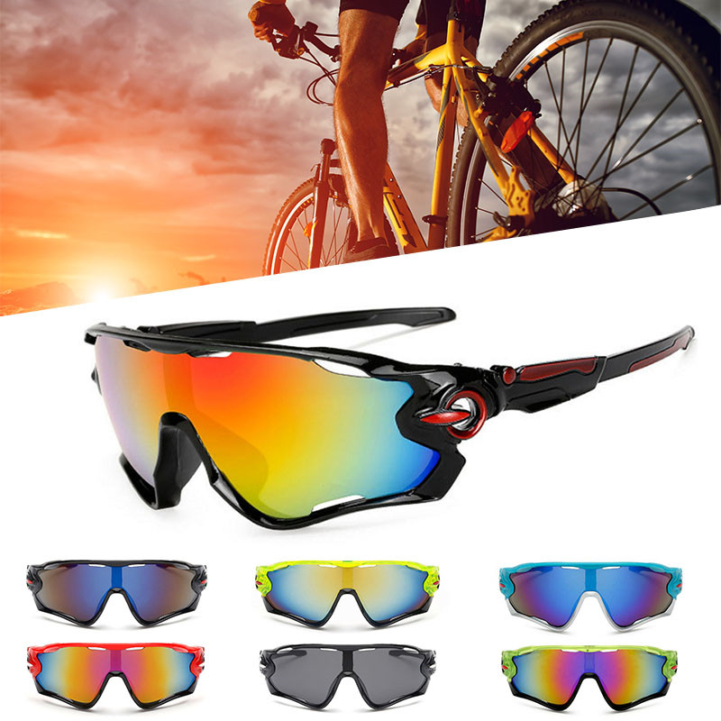 Cycling glasses sports outdoor explosion-proof sunglasses colorful windproof glasses bicycle sunglasses bicycle explosion proof glasses outdoor sun glasses yellow black