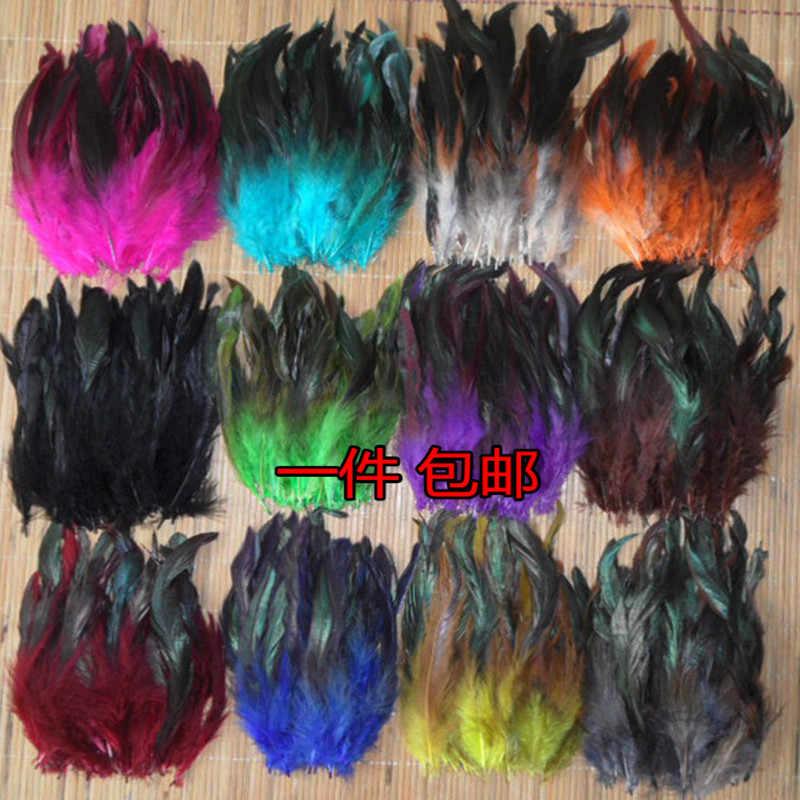 Giá rẻ! 50 cái Màu Sắc Đẹp lông Dậu 5-8 ''/12.5-20 cm pheasant gà plume Vận chuyển Miễn phí đen